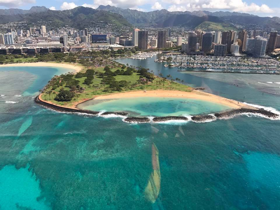 Oahu in Hawaiian Islands