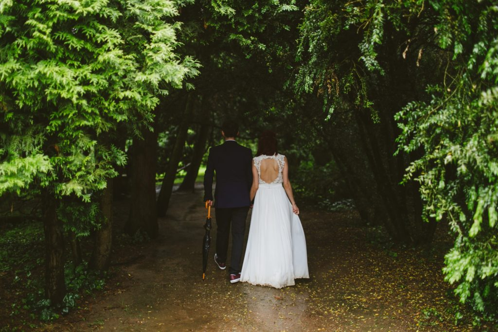 wedding in wood