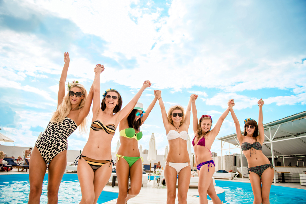 girls enjoying
