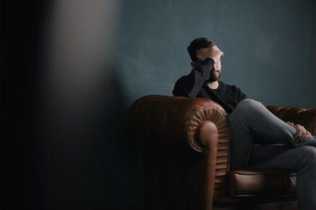men suffering from wedding stress