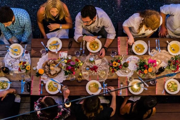 Summer wedding menu dishes