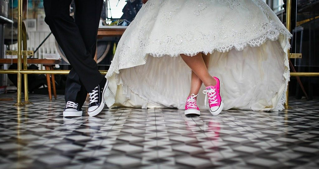 Bold and Casual Bridal Shoes