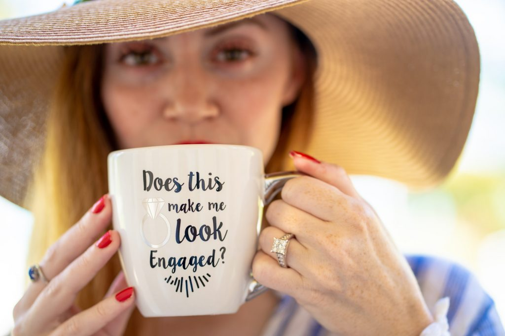 Engagement coffee cup